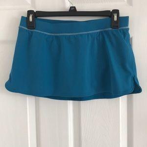 Teal tennis skirt